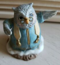 "1993 Vtg Fitz & Floyd Holiday Hamlet Enchanted Forest ""The Parson"" Owl figure"