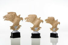 3 Pokale Figuren Siegesadler Adler mit Gravuren