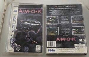 Sega Saturn - Amok- Case Art Manual ONLY