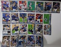 2015 Topps Series 1 & 2 Milwaukee Brewers Team Set of 24 Baseball Cards
