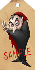 PRIMITIVE 10 HALLOWEEN DRACULA VAMPIRE HANG TAGS