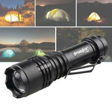 Black Tactical Focus 300LM Zoomable LED 3 Modes Flashlight Lamp Light Outdoor GA