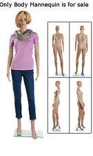 """Retails Clear Glass based Plastic Female Mannequin With Leg Bent 6"""""""