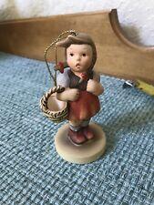 Goebel Berta Hummel Christmas Ornament little girl Holding Basket