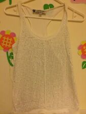 jenifer lopez tank top white good conditons XS