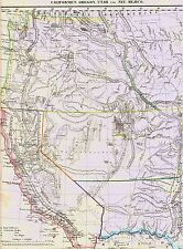 🦅🏈 ORIGINAL 177 Jahre alte Landkarte OREGON Rocky Mountains Saskatschawan 1842