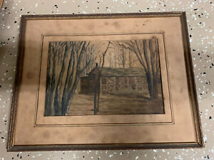 ANTIQUE EXHIBITED PASTEL By George William Freese Behalf Of Kresge NJ Gallery Ex