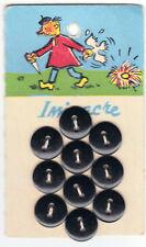 plaque ancienne boutons LES FABLES DE LA FONTAINE la poule aux oeufs d'or
