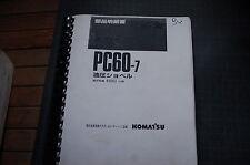 Komatsu Avance Pc60-7 Trackhoe Excavator Parts Manual book catalog crawler list