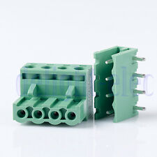 10x 2EDG 4Pin Plug-in Screw Terminal Block Connector 5.08mm Pitch Right Angle DE
