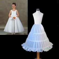 3 HOOP Flower Girl Skirt Party Wedding Petticoat Slips Underskirt Crinoline