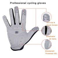Cycling Winter Gloves Men Sports Full Finger Anti Slip Gel Pad Motorcycle MTB
