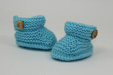 KNITTING INSTRUCTIONS-BABY SIMPLE CUFF 1 BUTTON BOOTIES BOOTS KNITTING PATTERN