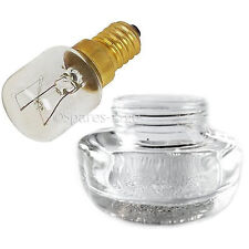 Genuine WRIGHTON Oven Glass Lamp Lens Cover + 15W SES Screw in Light Bulb