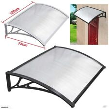 Door Canopy Patio Porch Awning Shelter with black frame