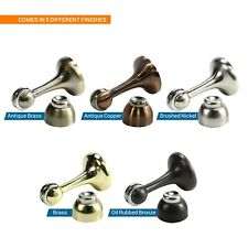 Silver SKYHY224 Door Stop Strong Magnetic Shockproof Adjustable Nailless Stainless Steel Inner Anti Collision Security Adhesive Mute Buffer Floor Knob