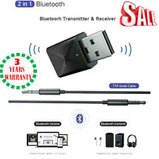 USB Bluetooth 5.0 Transmitter Wireless Audio Stereo Adapter Receiver Dongle Fast
