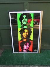 Poster Bob Marley Velvet Black Light Scorpio 2010 3 Pics #1904 Shipped Rolled Up