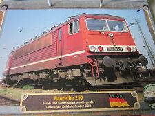 Lokarchiv E- Loks 120 BR 250 DR der DDR 1974