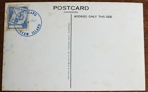 """RP Postcard of Herm Is. 1952 ? – PLUS Cancelled """"Herm Is"""" on ½d Blue Stamp (Se3)"""