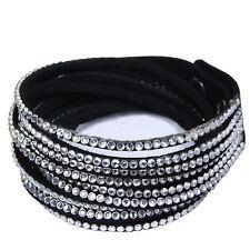 Black Rhinestone Costume Bracelets