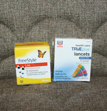 Freestyle Lite Blood Glucose Diabetic Test Strips 50 + 100 lancets.Exp.2022-01.