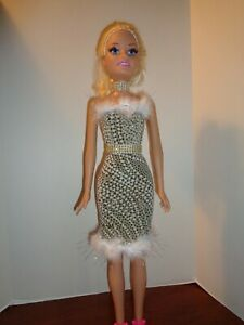 """PRETTY DRESS  FOR 28 """" BEST FRIEND FASHION DOLL- OUTFIT ONLY"""