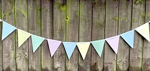 Easter Garland Bunting Home Easter Decoration Room Deco Pastel Colours