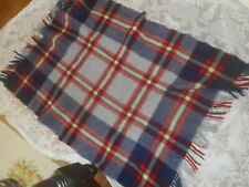 "TROY  ROBE  VTG.  100  %  VIRGIN  WOOL  THROW  BLANKET  app 51 ""x 38 ""  PLAID"