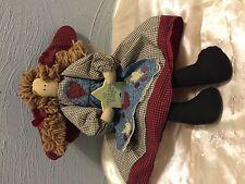 House of Lloyd Angel Doll Cloth Shelf Sitter Mantel ~ 1996