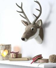 Gisela Graham Christmas Stag reindeer head plush antique Country Living style