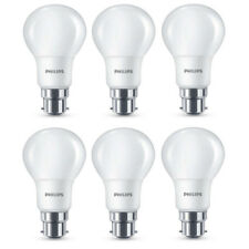 6x Philips LED Frosted B22 60w Warm White Bayonet Cap Light Bulbs Lamp 806 Lm