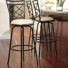 Swivel Metal Stools 3 Set Adjustable Bar Height Black Kitchen Counter Stool NEW