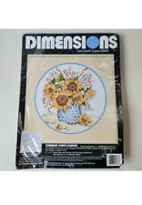 Dimensions Summer Sunflowers No Count Cross Stitch Kit #3973 Vtg 1992 NEW In Bag