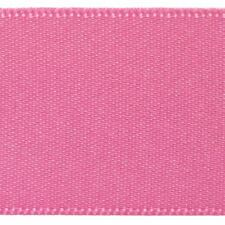 Berisfords Double Satin Ribbon 35 Colours 5 Widths 3 Lengths Hot Pink #52 15mm X 2mtrs