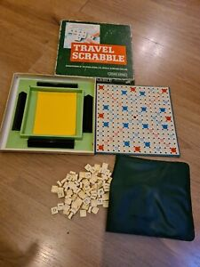Spears Game Travel Scrabble with Clip In Tiles - Complete - Vintage