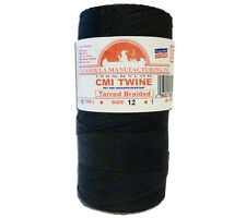 Catahoula No 12 Tarred Braided Nylon Bank Line 1 lb Spool 1600 ft Twine