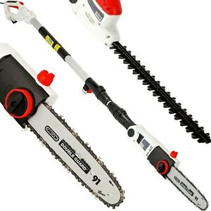 2 in 1 Electric Pole Corded Chainsaw & Hedge Trimmer Telescope Grade B Used