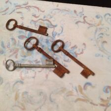 Set of Four Antique French Iron Skeleton Keys 19th century