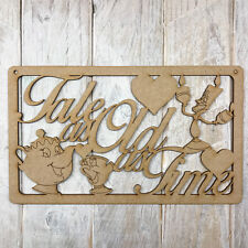 MDF TALE AS OLD AS TIME Wooden Plaque Sign Blank Craft Shape BEAUTY & THE BEAST