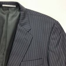 Hickey Freeman Men's Canterbury Pinstripe Blazer Navy Blue • 46 Long