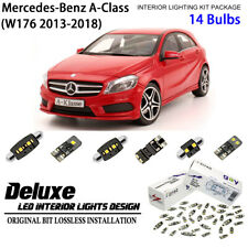 14 Bulb Deluxe LED Interior Dome Light Kit White for W176 2013-2018 Benz A-Class
