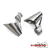 Chrome Front Turn Signal Bracket Relocation For Harley Forty Eight 10-15 XL1200X