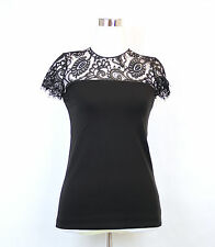 $1250 NEW Authentic Gucci Floral Veil Top Shirt  XS Black 324372 1000