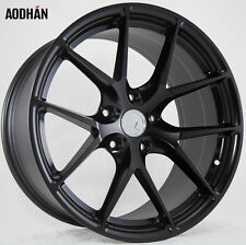 18X8 +15 AodHan LS007 5X114.3 Black Wheel Fit WRX STI Lancer EVO 8 9 X 5X4.5 TL