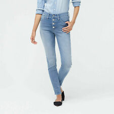 """New Women's J. Crew 9"""" High-Rise Skinny Button Fly Light Wash Jean Size 31"""