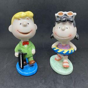 Rare Peanuts Ceramic Figures UFS, Inc. Flambro Set - Indonesia
