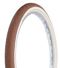 Deli Tire 26 x 2.35 Folding Bead, Beach Cruiser Bike Tire, Brown/Cream Sidewalls