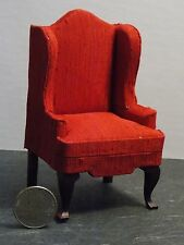 Dollhouse Miniature Living Room Wingback Chair 1:12 inch scale K8 Dollys Gallery