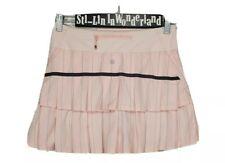 Lululemon Run Pace Setter Skirt 4 Tall Slalom Stripe Pretty Pink Tennis Skort